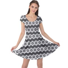 Pattern Abstractstyle Seamless Cap Sleeve Dress