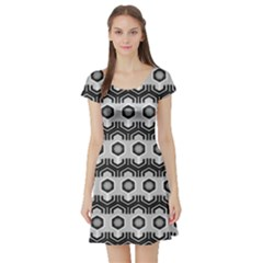 Pattern Abstractstyle Seamless Short Sleeve Skater Dress