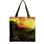 Eddie s Sunset Zipper Grocery Tote Bag