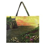 Eddie s Sunset Zipper Large Tote Bag