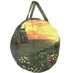 Eddie s Sunset Giant Round Zipper Tote