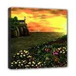 Eddie s Sunset  By Ave Hurley   Square (2) Eddie s Sunset By Ave Hurley   [stretched] Mini Canvas 8  x 8  (Stretched)