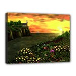 Eddie s Sunset  By Ave Hurley   Square (2) Eddie s Sunset By Ave Hurley   [stretched] Canvas 16  x 12  (Stretched)