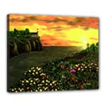 Eddie s Sunset  By Ave Hurley   Square (2) Eddie s Sunset By Ave Hurley   [stretched] Canvas 20  x 16  (Stretched)