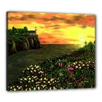Eddie s Sunset  By Ave Hurley   Square (2) Eddie s Sunset By Ave Hurley   [stretched] Canvas 24  x 20  (Stretched)
