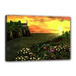 Eddie s Sunset  By Ave Hurley   Square (2) Eddie s Sunset By Ave Hurley   [stretched] Canvas 18  x 12  (Stretched)