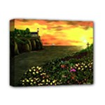 Eddie s Sunset  By Ave Hurley   Square (2) Eddie s Sunset By Ave Hurley   [stretched] Deluxe Canvas 14  x 11  (Stretched)
