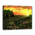 Eddie s Sunset  By Ave Hurley   Square (2) Eddie s Sunset By Ave Hurley   [stretched] Deluxe Canvas 20  x 16  (Stretched)