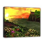 Eileen s Sunset Canvas 14  x 11  (Stretched)