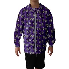 Daisy Purple Kids  Hooded Windbreaker by snowwhitegirl