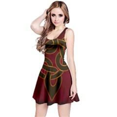 Celtic Spiritual Pattern Art Reversible Sleeveless Dress
