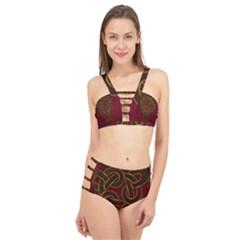 Celtic Spiritual Pattern Art Cage Up Bikini Set by Pakrebo