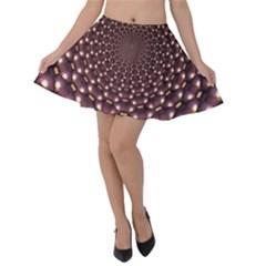 Background Sphere Balls Reflection Velvet Skater Skirt