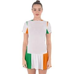 Ireland Flag Irish Flag Drop Hem Mini Chiffon Dress by FlagGallery