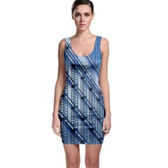 Abstract Architecture Azure Bodycon Dress
