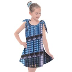 Abstract Architecture Background Kids  Tie Up Tunic Dress by Pakrebo