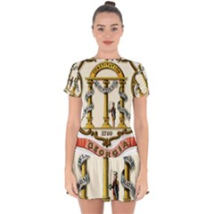 Historical Coat Of Arms Of Georgia Drop Hem Mini Chiffon Dress by abbeyz71