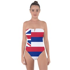Flag Of Hawaii Tie Back One Piece Swimsuit by abbeyz71