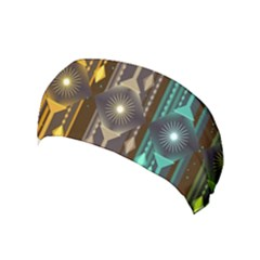 Background Colors Abstract Yoga Headband by Pakrebo