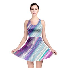 Color Acrylic Paint Art Painting Reversible Skater Dress