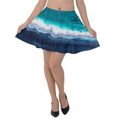 Color Acrylic Paint Art Painting Velvet Skater Skirt
