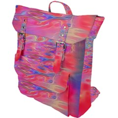 Purple Red Abstract Pool Buckle Up Backpack by bloomingvinedesign