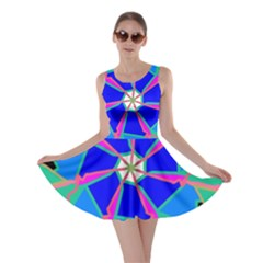 Mandala Wheel Pattern Ornament Skater Dress