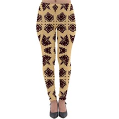 Seamless Pattern Ornament Lightweight Velour Leggings
