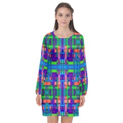 Rp 3 5 Long Sleeve Chiffon Shift Dress  by ArtworkByPatrick