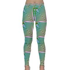 Seamless Pattern Ornament Design Classic Yoga Leggings