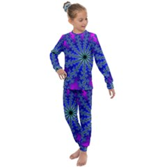 Fractal Abstract Background Digital Kids  Long Sleeve Set  by Pakrebo