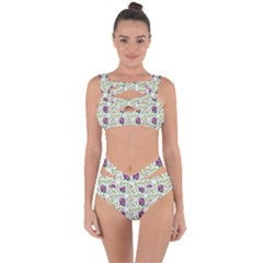 Default Texture Background Floral Bandaged Up Bikini Set  by Pakrebo