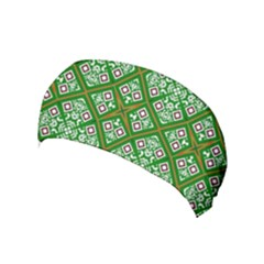 Symmetry Digital Art Pattern Green Yoga Headband by Pakrebo
