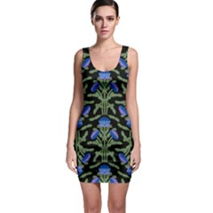 Pattern Thistle Structure Texture Bodycon Dress by Pakrebo