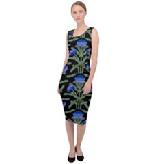 Pattern Thistle Structure Texture Sleeveless Pencil Dress by Pakrebo