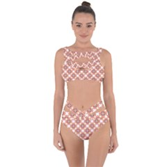 Pattern Flowers Flower Pattern Bandaged Up Bikini Set