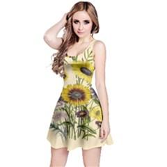 Botanical Print Antique Flora Reversible Sleeveless Dress by Pakrebo