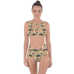 Scrapbook Leaves Decorative Bandaged Up Bikini Set  by Pakrebo