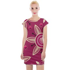 Background Non Seamless Pattern Art Cap Sleeve Bodycon Dress