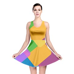 Geometry Nothing Color Reversible Skater Dress