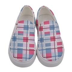 Fabric Textile Plaid Women s Canvas Slip Ons