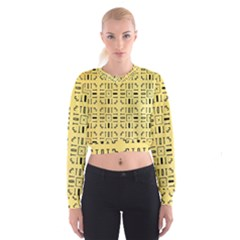 Background Yellow Cropped Sweatshirt by HermanTelo