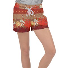 Abstract Flower Women s Velour Lounge Shorts