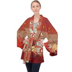 Abstract Flower Velvet Kimono Robe by HermanTelo