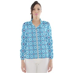 Blue Pattern Women s Windbreaker by HermanTelo