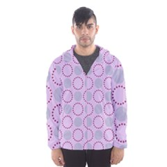 Circumference Point Pink Men s Hooded Windbreaker