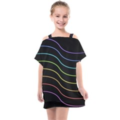 Wallpaper Background Colors Neon Kids  One Piece Chiffon Dress by Bajindul