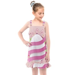 Easter Egg Kids  Overall Dress by Bajindul