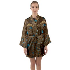 Fractal Abstract Long Sleeve Kimono Robe by Bajindul