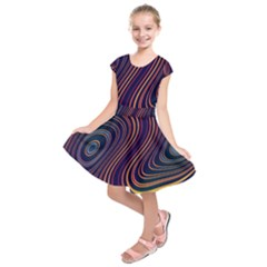 Fractal Mathematics Generated Kids  Short Sleeve Dress by Bajindul